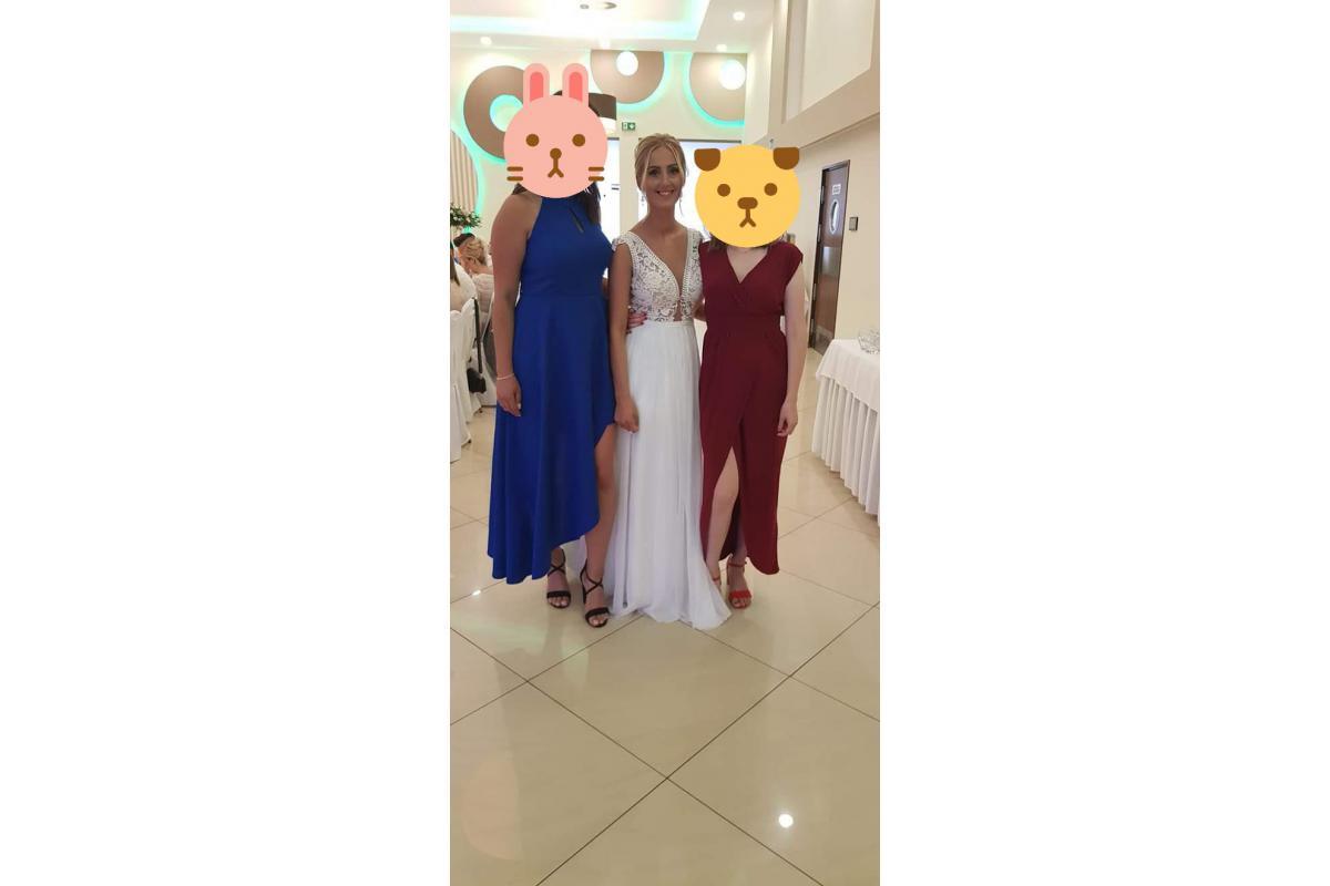 Projekt Agnieszki Światły Suknia ślubna z muślinowym dołem