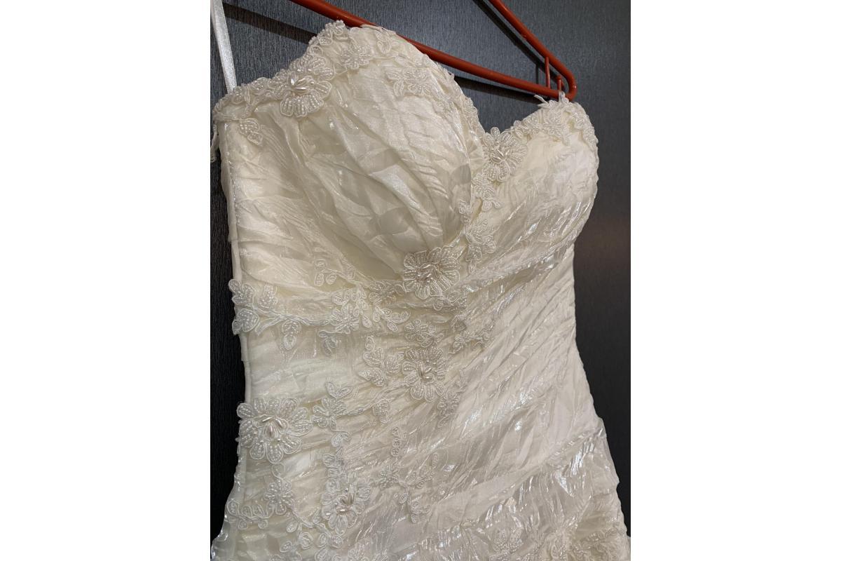 Suknia ślubna z gorsetem - TANIO!