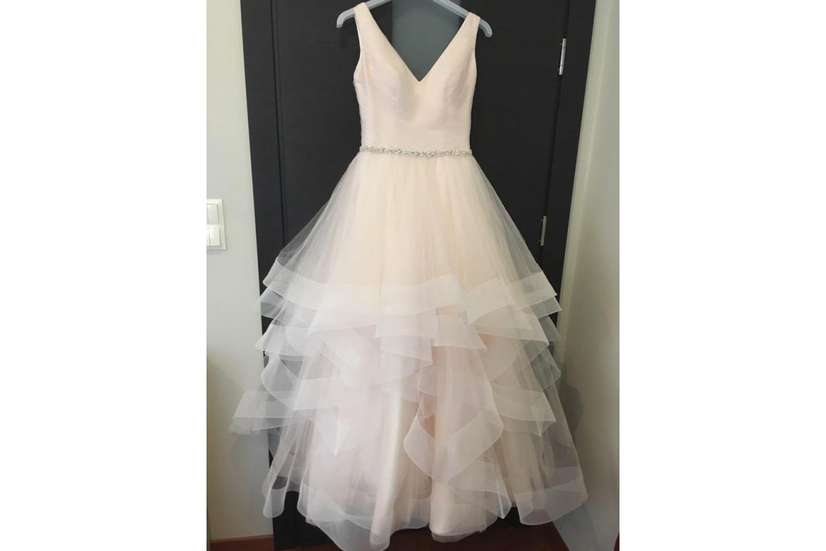Suknia ślubna w kolorze pudrowego różu