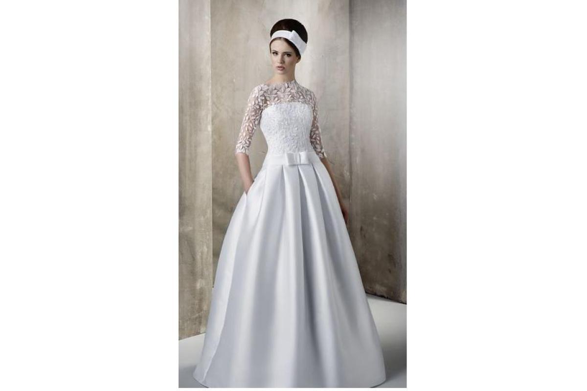 Suknia ślubna klasyczna, princessa, z kieszeniami rozm.36/38