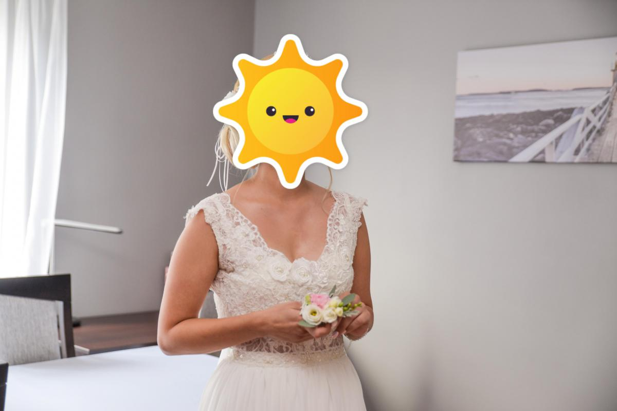 Suknia ślubna boho ivory