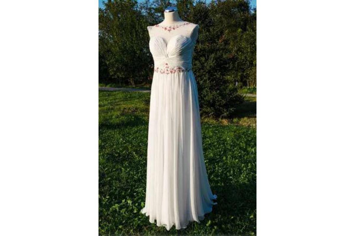 Nowa suknia ślubna z trenem, z angielskiego salonu sukien ślubnych, rozmiar 36