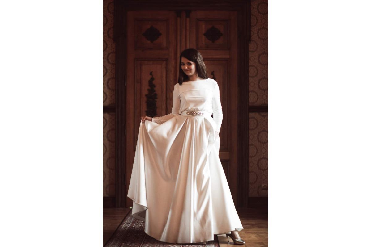 Suknia ślubna Mikado r. 38