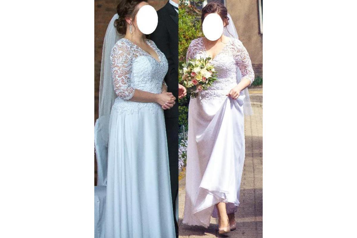 Suknia ślubna, biała