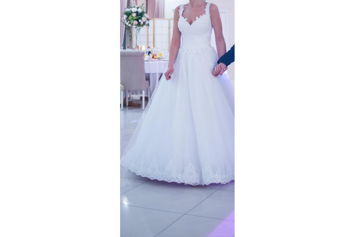 Śliczna suknia ślubna księżniczka S/M