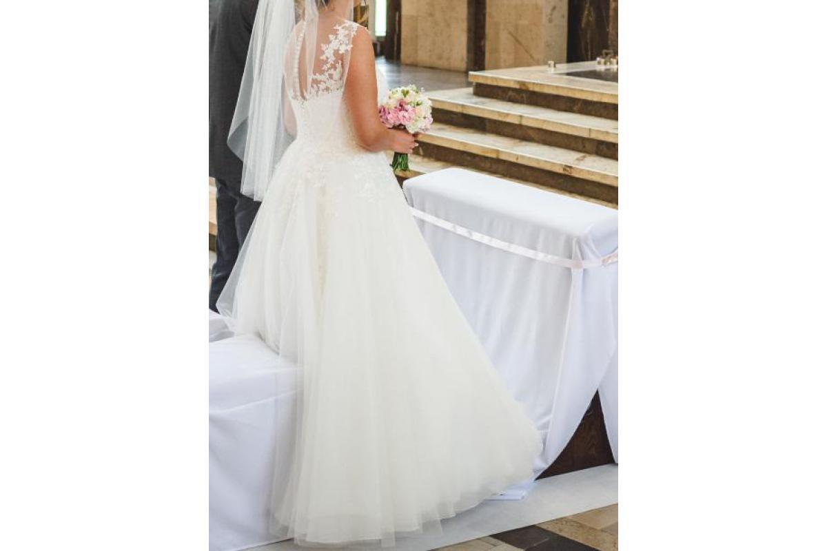 Śliczna suknia ślubna! Dodatki gratis,cena do negocjacji!