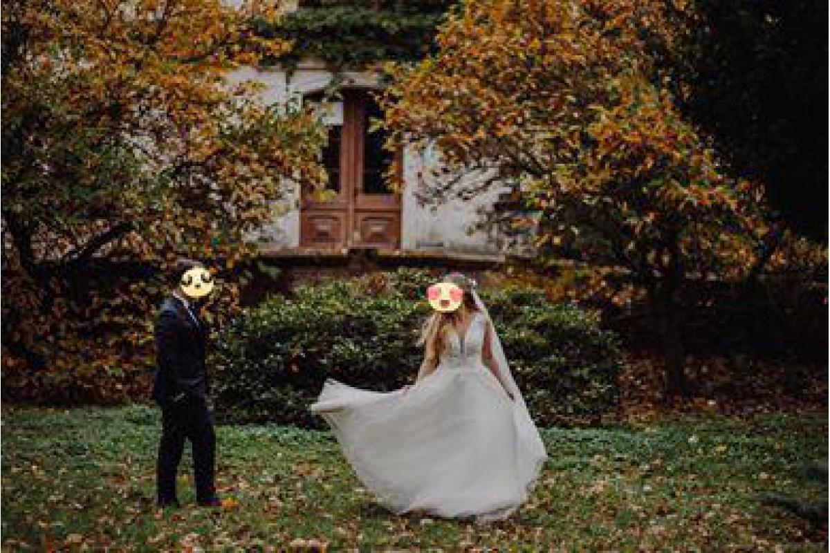 Romantyczna zwiewna suknia ślubna Nastasia