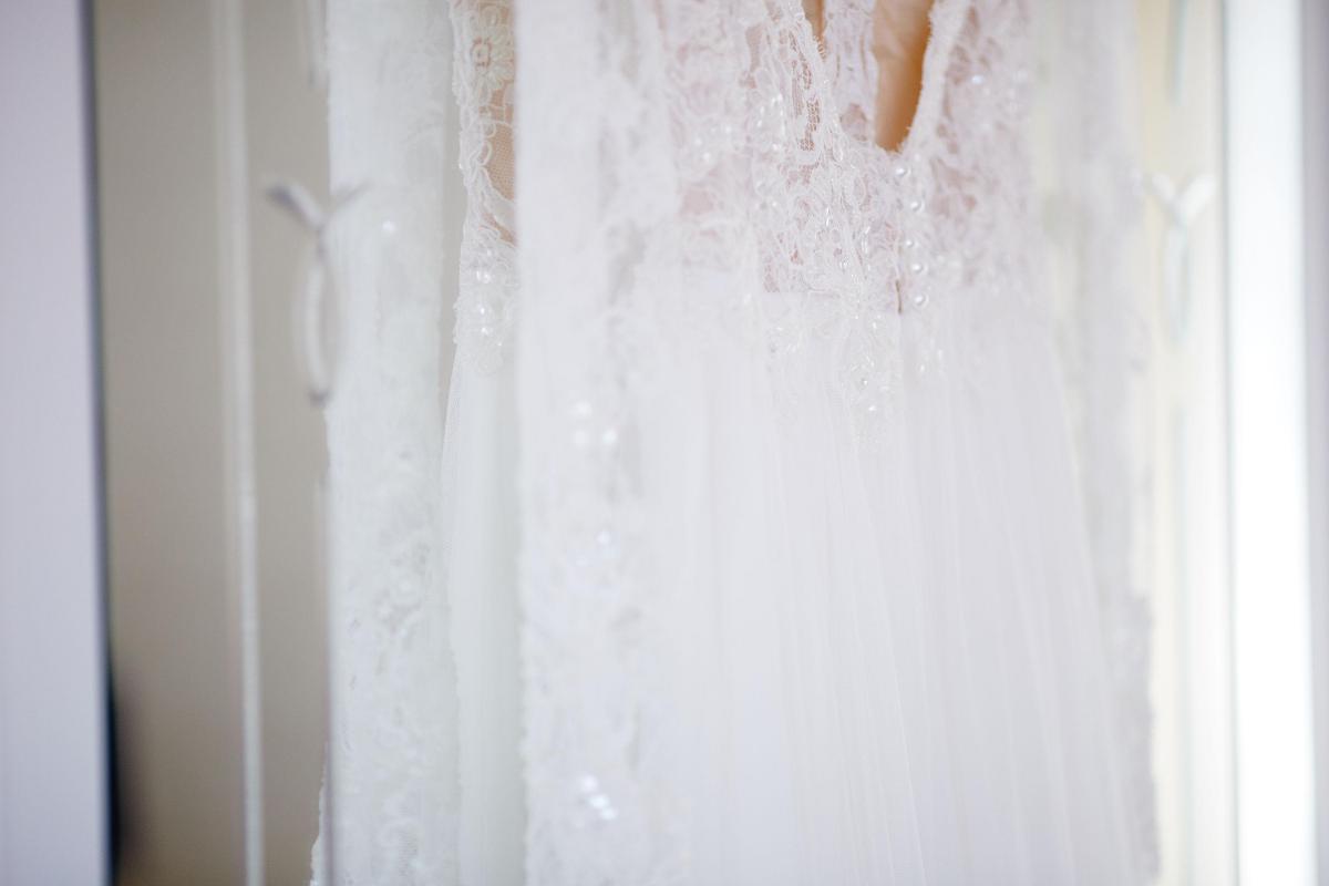 Suknia ślubna projektu Sylwii Kopczyńskiej