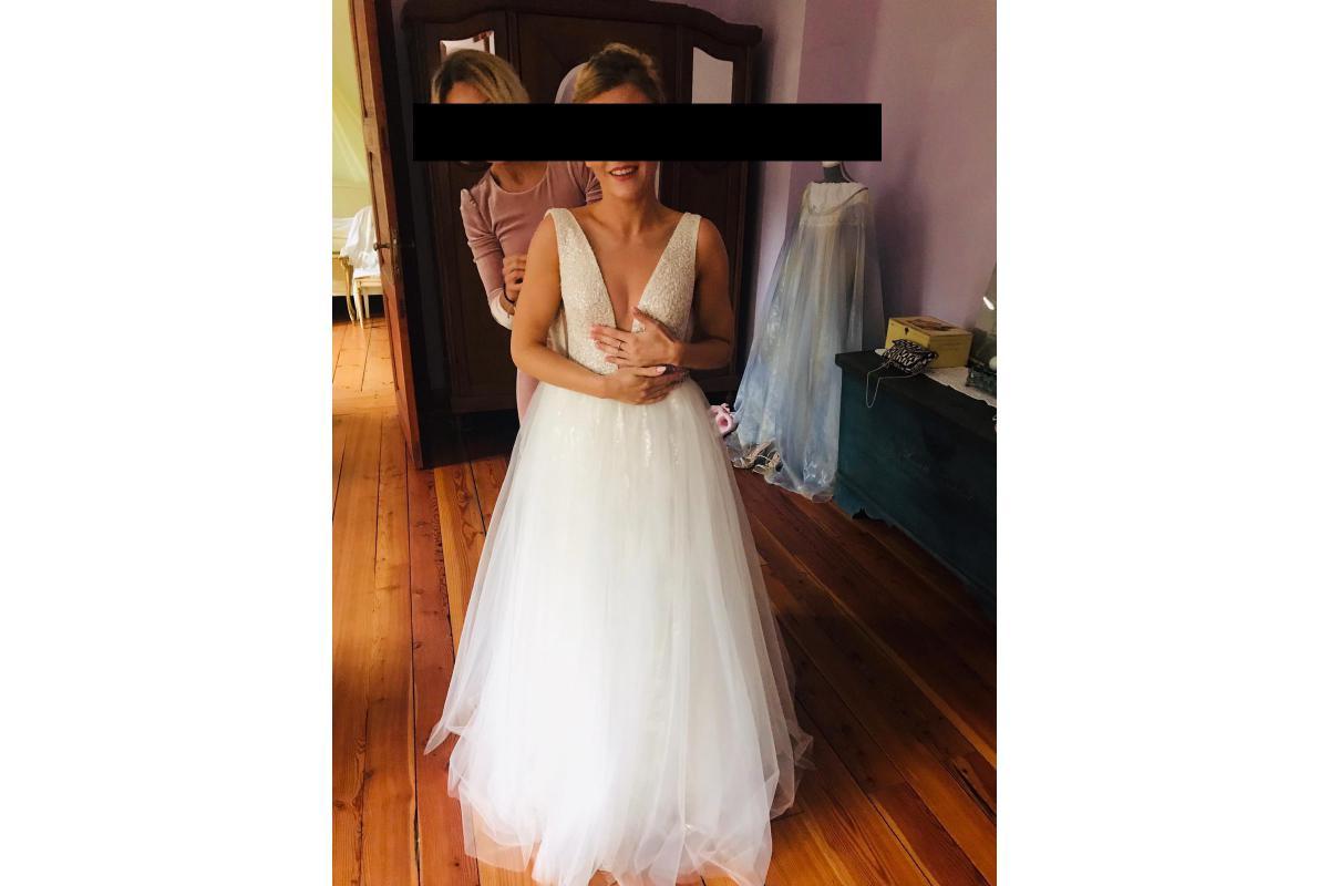 Przepiękna suknia ślubna kupiona na targach w Monachium w 2019r.