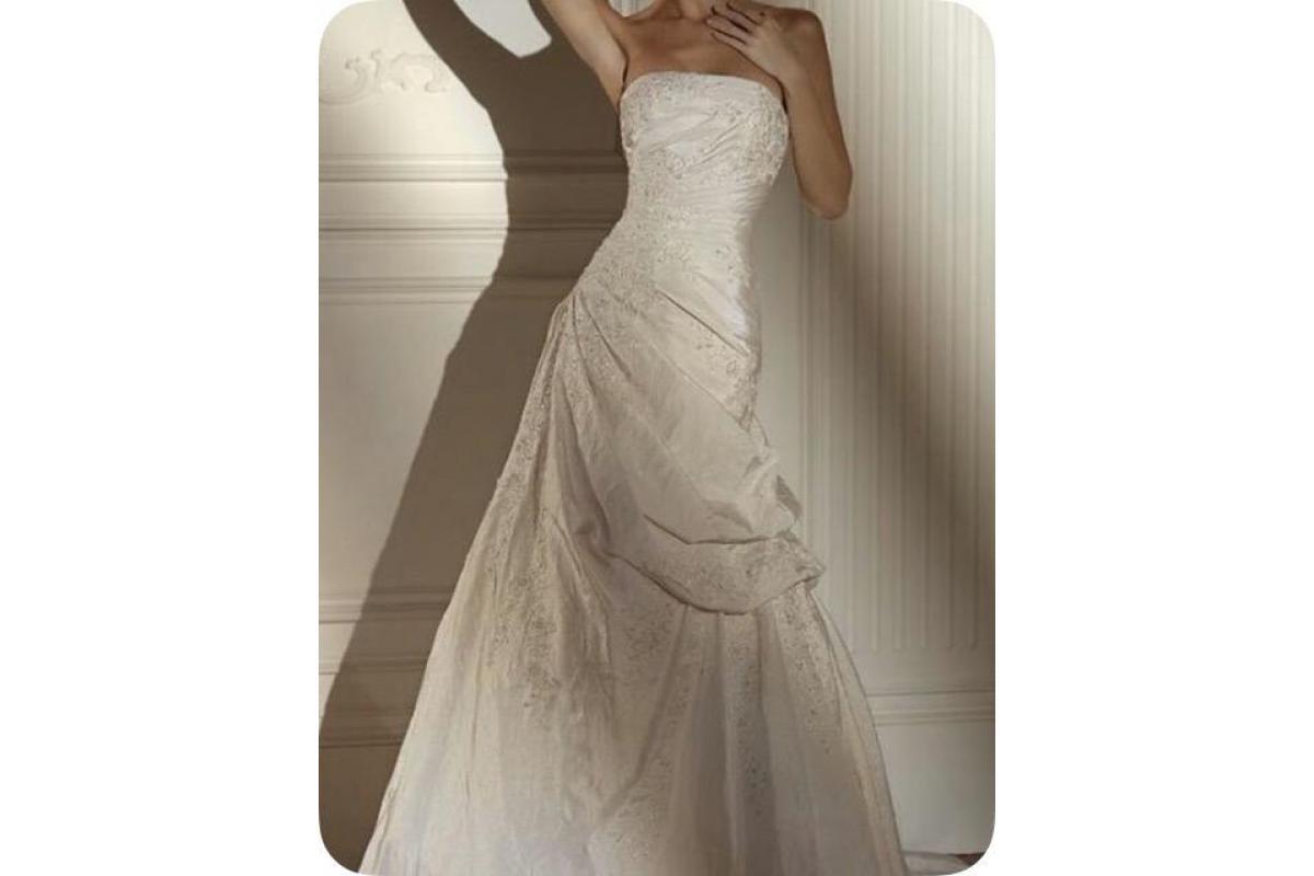 Ekskluzywna suknia ślubna-kryształki Swarovski Pronovias