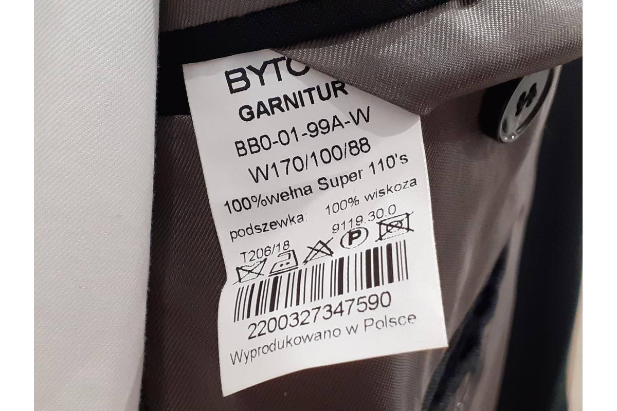 Smoking czarny firmy Bytom jak nowy 170/100/88 + koszula gratis !