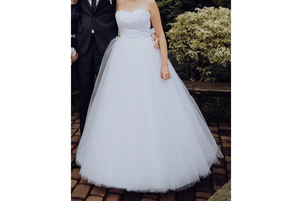 Princessa suknia ślubna + welon gratis!