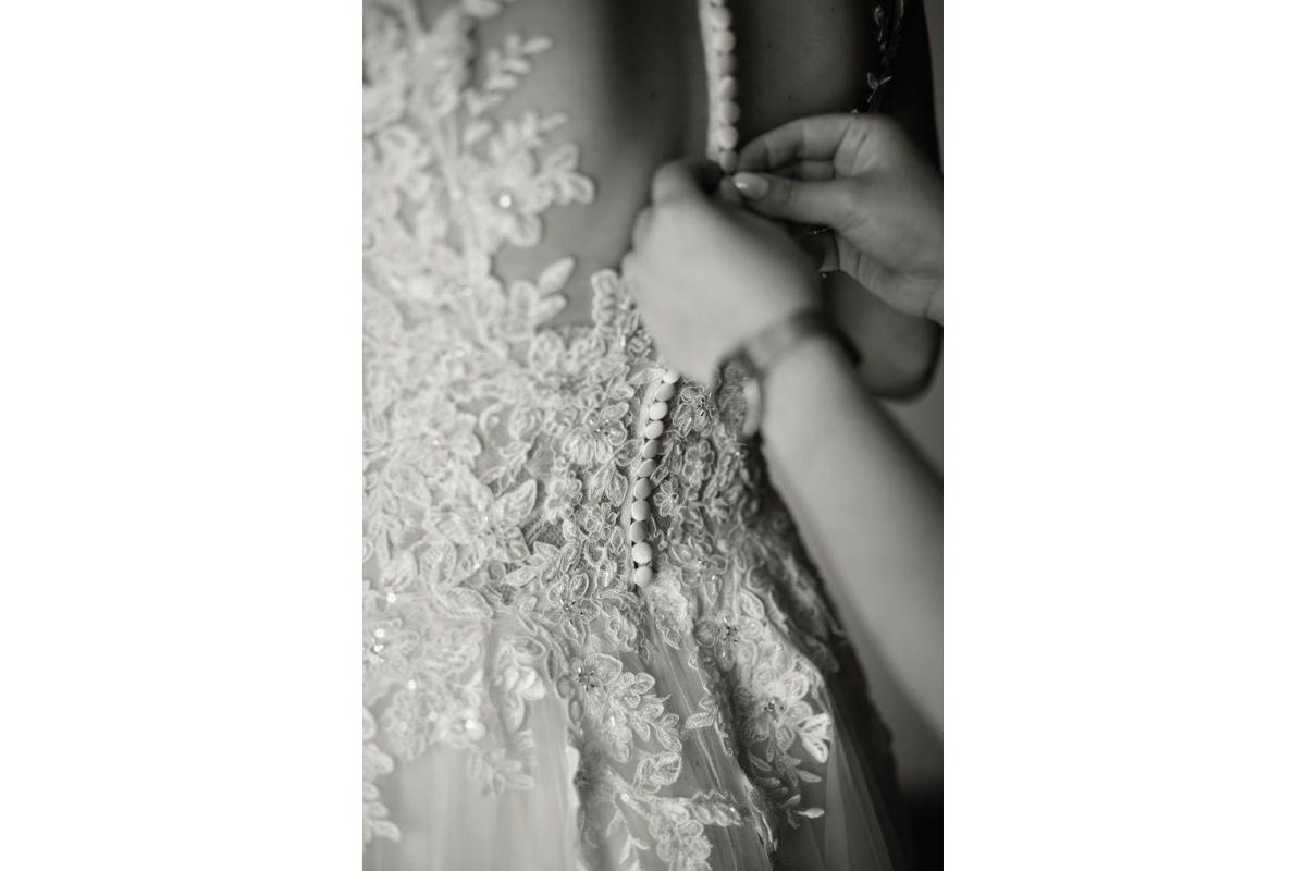 Sprzedam suknie ślubną ivory/ecru/brzoskwiniową