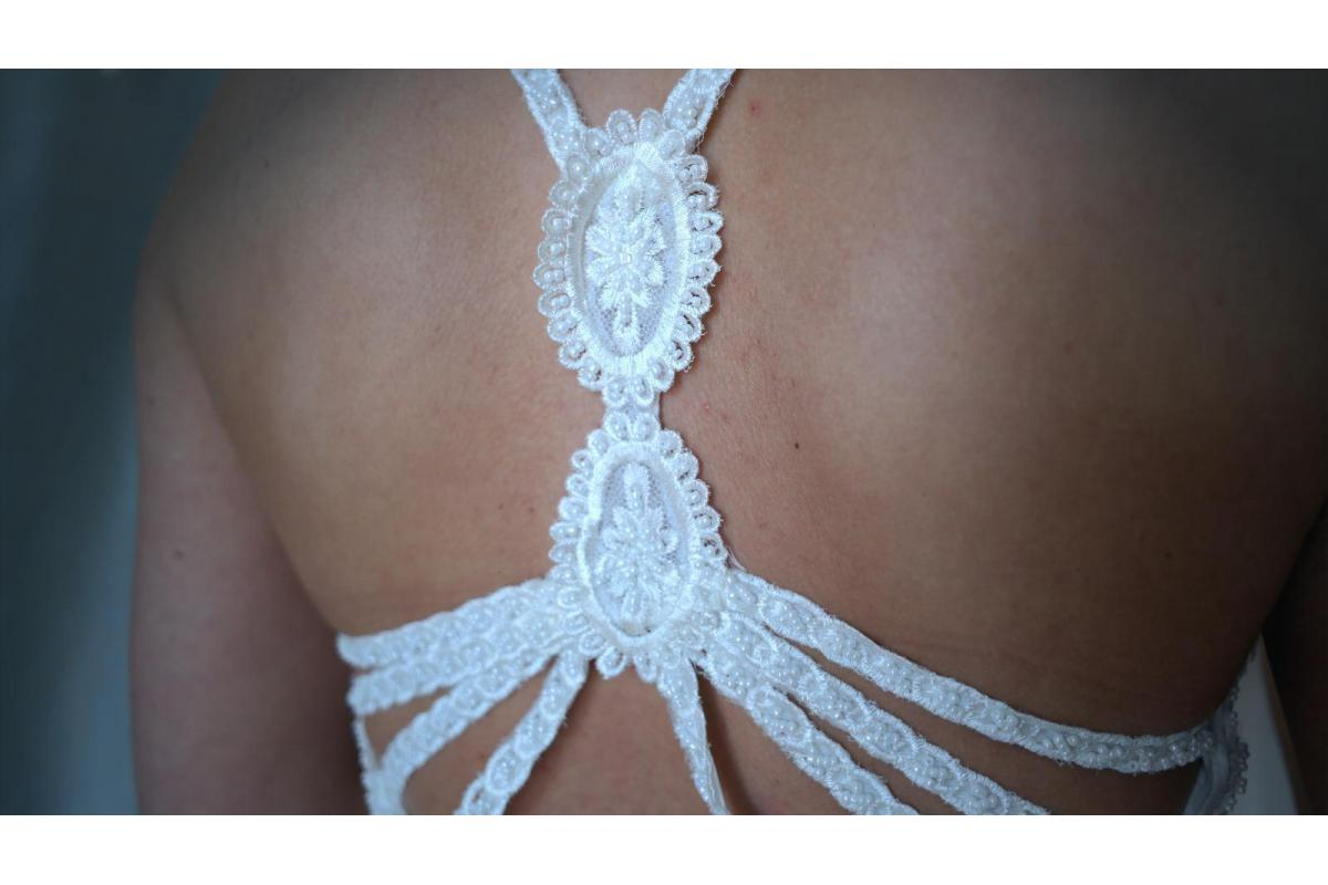 Boho / Vintage Suknia Slubna rozmiar 36