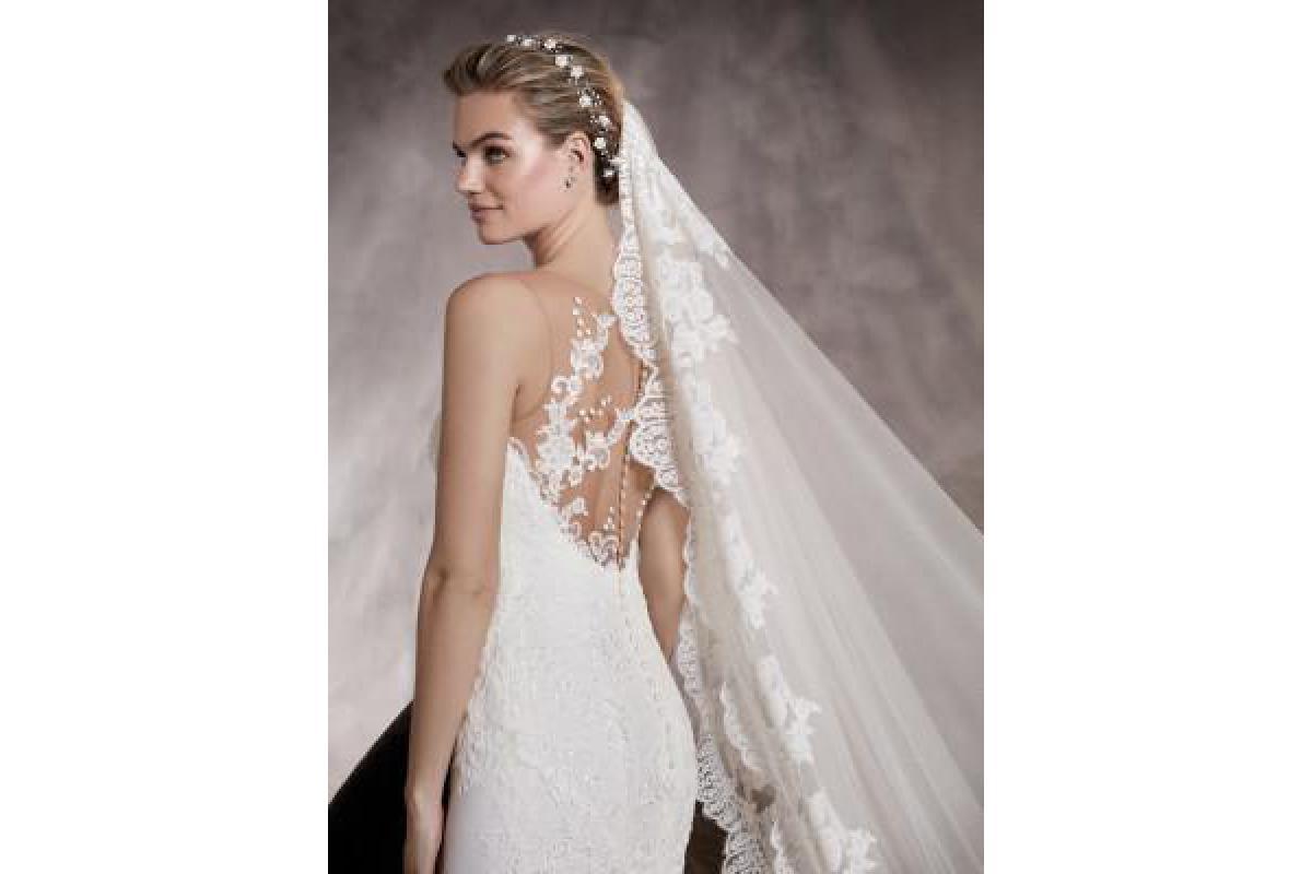 PRONOVIAS PRUNELLE - szczęśliwa suknia ślubna w rozm. 40!