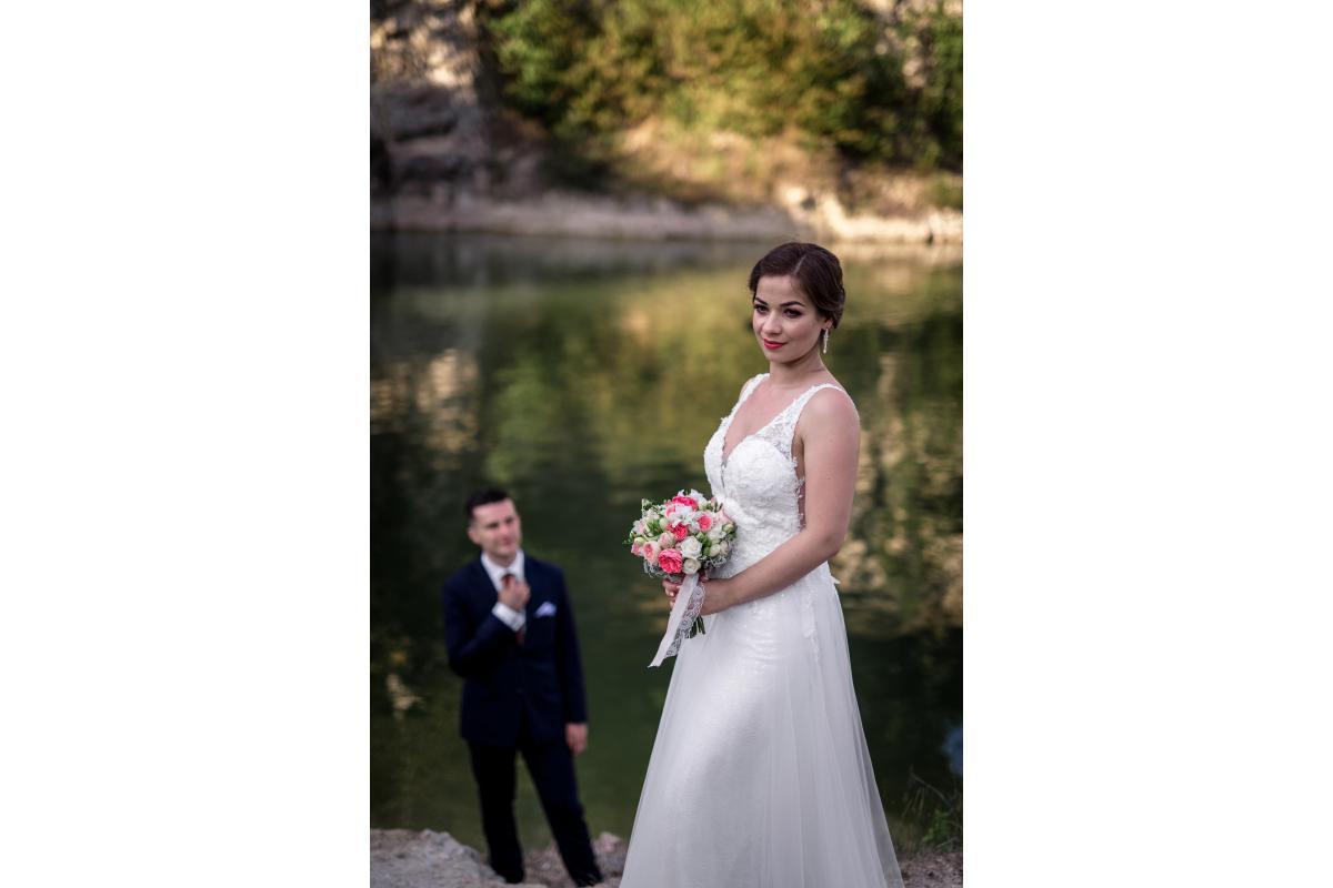 Suknia ślubna dwa w jednym - syrenka i literka A