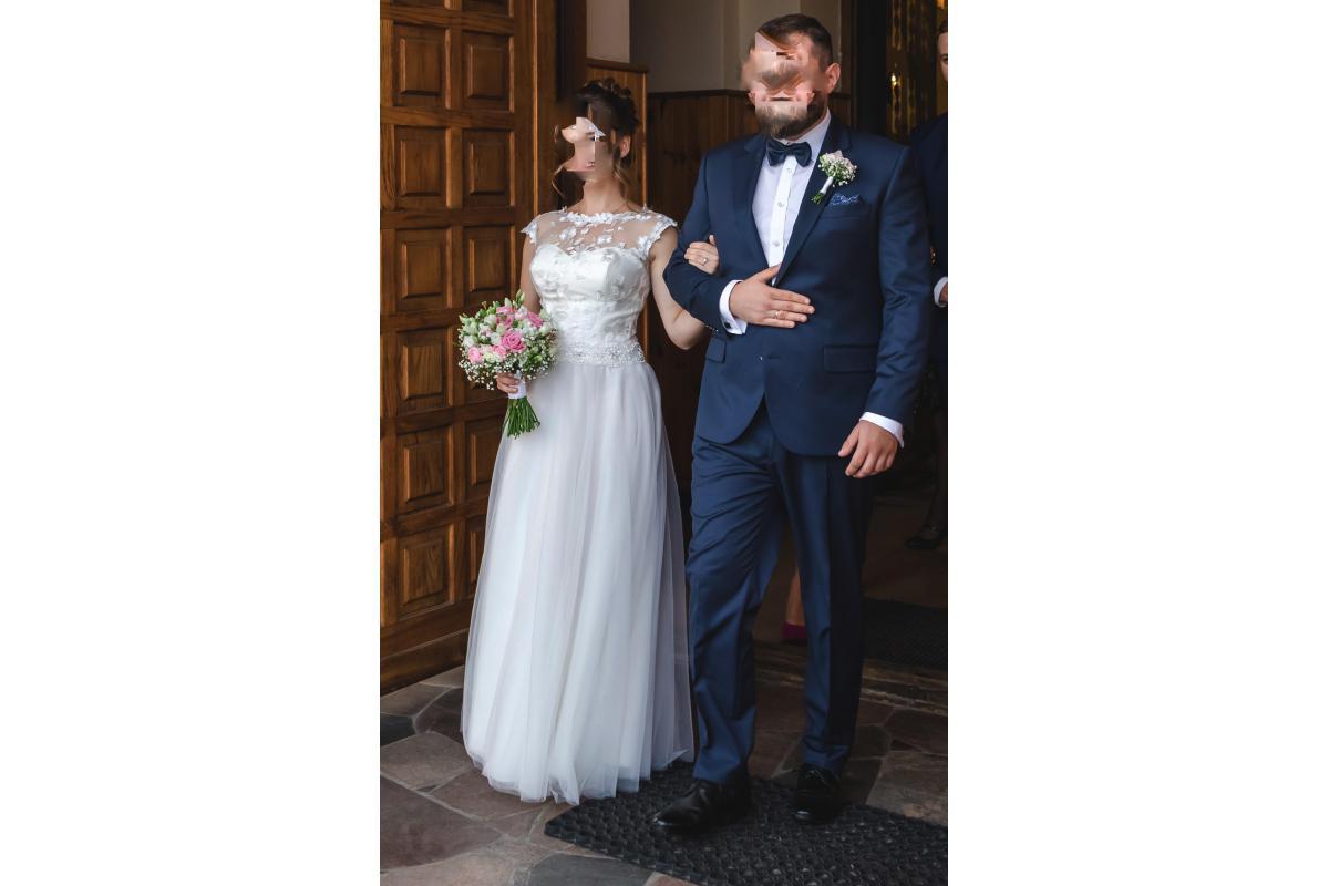 Suknia ślubna ecru 160 + 5cm obcas