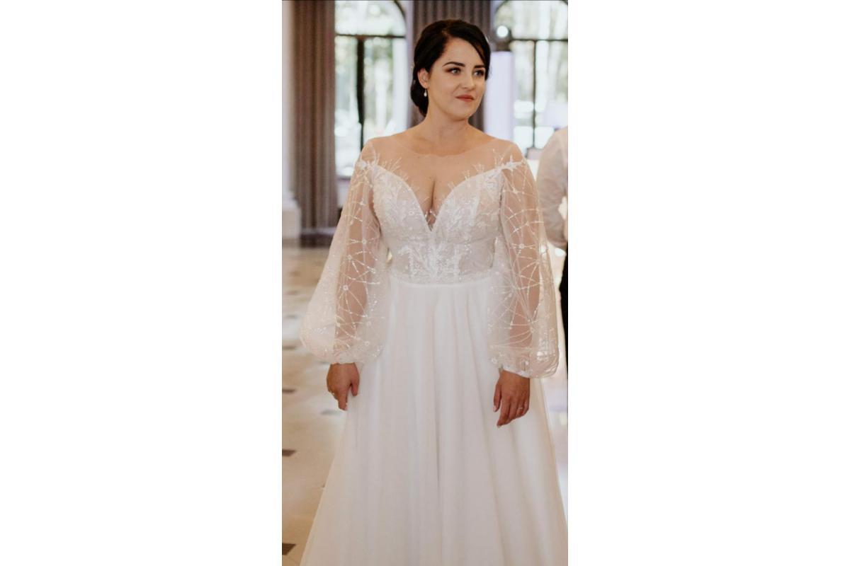 Suknie ślubna z pięknymi rękawami