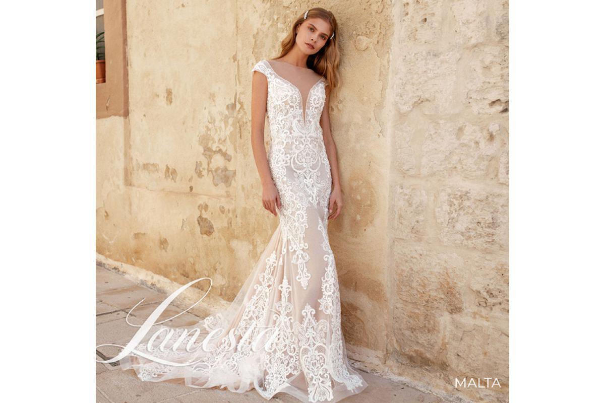 Tanio sprzedam przepiękną suknię ślubną firmy Lanesta Malta zakupioną w salonie sukien Ślubnych Mado
