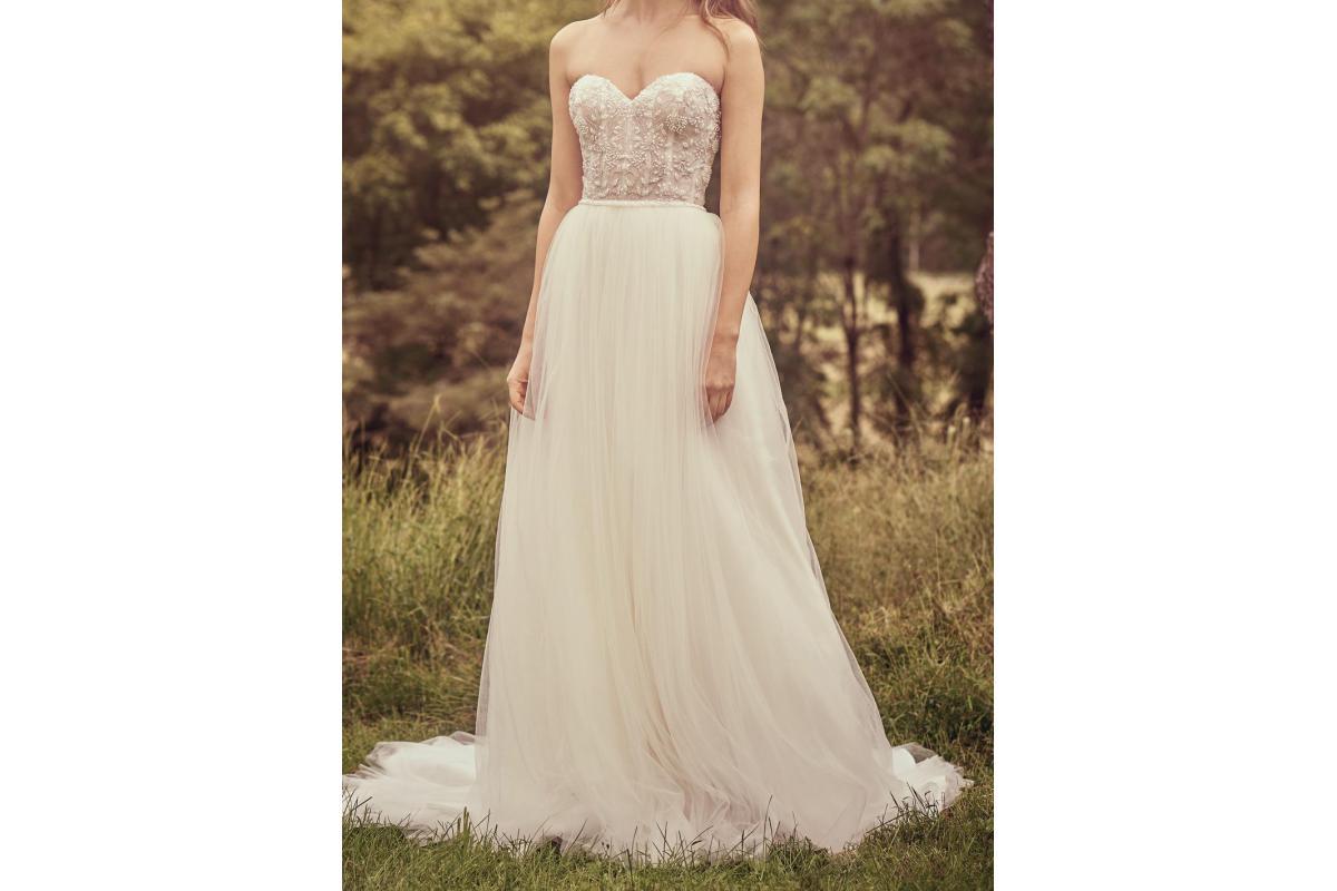 Suknia ślubna Lillian West by Justin Alexander, ivory, rozmiar 34, gorset, tiul,
