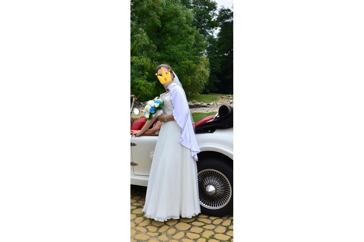 Suknia ślubna plus bolerko wypożyczenie